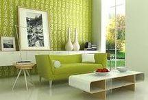 Interiors - Green rooms