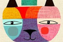 Cat illustrations - quirky / by vicky riley