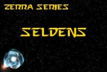 Novel - Seldens - Race Idea Board / The Seldens (pronounced SS-ELL-DENS) are a peaceful race, and were ill-equipped to defend themselves and their home-planet, Seldar. Those remaining have inhabited a new world. *** This race is featured in the novel 'A Candle Amongst the Stars' by K. Llewellin. Character descriptions © of K. Llewellin.