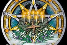 """Paganism - Imbolc / This holiday is also known as Candlemas, or Brigid's (pronounced BREED) Day. One of the 4 Celtic """"Fire Festivals. Commemorates the changing of the Goddess from the Crone to the Maiden. Celebrates the first signs of Spring. Also called """"Imbolc"""" (the old Celtic name). via http://www.thewhitegoddess.co.uk/the_wheel_of_the_year/imbolc.asp"""