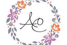 Monograms / Soft romantic wedding monogram