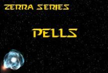 Novel - Pells - Race Idea Board / The Pells (pronounced PELLS) are an unconquered race that inhabit 3 moons around a ringed gas giant *** This race is featured in the novel 'A Candle Amongst the Stars' by K. Llewellin. Character descriptions © of K. Llewellin.