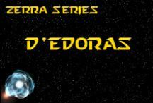 Novel - D'edoras - Race Idea Board / The D'edoras (pronounced DUH-EH-DOOR-ERRS) are an unconquered race, whose home planet, D'Vel, is located in the Large Magellanic Cloud. *** This race is featured in the novel 'A Candle Amongst the Stars' by K. Llewellin. Character descriptions © of K. Llewellin.