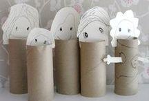 CRAFT kids · TOILET PAPER / Manualidades para peques y mayores con tubos de papel higiénico.