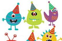 Fiesta - cumpleaños MONSTRUOSO / Inspiración para organizar una fiesta de cumpleaños temática: monstruos.