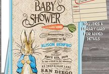 Peter Rabbit Baby shower ideas / Showers