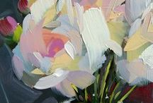 Abstract flowers painting / Inspiration for painting