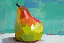 Abstract fruit paintings / Abstract fruit paintings
