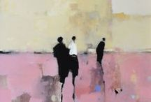 Abstract figure painting / Figure painting