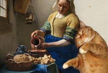 Fat Cats Art / Fat cats inserted into world renowned masterpieces