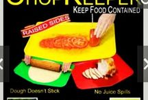 """""""Chop Keeper"""" / The only flexible chopping board with raised sides"""