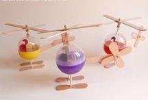 Brinquedos reciclados / Brinquedos feitos com materiais reciclados e muita criatividade.