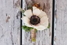 Buttonholes / Buttonholes and other accessories for the males in our wedding parties