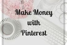 Make Money with Pinterest / How to get Pinterest working for you. Start creating an awesome Pinterest profile to increase your traffic and page views. Amazing Pinterest tips and tricks for new bloggers. Read these blogs to start making money with Pinterest! #pinterest #makemoney #pinners #howtomakemoney