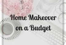 Home Makeover on a Budget / Creative and frugal ideas on how to make your home look glamorous on a budget. Tips on home DIY. Hacks and tricks to save money and add value to your home.