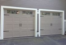 Before and After / Redesign your homes exterior just by replacing the garage doors. What a difference it can make!