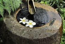 Garden / Garden water play Inspiration. Japanese Theme Gardens