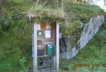 my photos Norwegian bus stop, mail box, grass-covered buildings / Misc Norwegian buildings such as bus stops, mail boxes, grass-covered buildings...