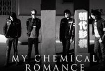 Mikey Way and MCR / Mikey's former band My Chemical Romance.
