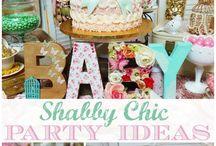 """Shabby Chic / Vintage / Retro"" Party Theme"