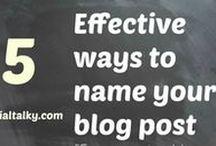 Blogging and Social media.