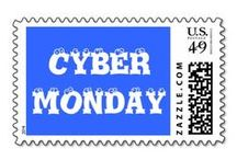 Cyber Monday / Cyber Monday falls on the first Monday after Thanksgiving Day in the United States. Many online retailers offer deals and deep discounts to customers on this day, which is increasingly becoming one of busiest online shopping days in the US. This is a Group Board featuring Customizable Cards, Announcements, and Gifts. Design, Artwork, & Photography by the Zazzle Artist Community.