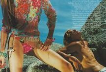 "Beach Glamour / Almost Vintage ....Cape Town, May 2000, Gavin Schneider Productions facilitated the ""Miami Spice"" photo-shoot for British Vogue.  Check out the incredible styling - slinky bold floral prints, sexy hot denim, and bold gold accessories.  Photographer Mario Testino  Fashion Director Lucinda Chambers"
