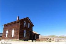 BODIE Ghost Town  / High in the eastern Sierra Nevada Mountains is a town held in a state of arrested decay. Resting at 8400 ft, see a historic mining town where 10,000 people once lived.