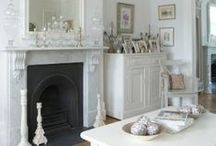 Roaring Fireplaces / Beautiful fireplaces in the beautiful houses at Kate & Tom's