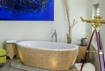 Luxurious Bathrooms / Have a soak in the tub or relax in the shower, these are some of the most amazing bathrooms at Kate & Tom's