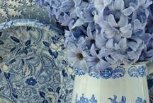 flow blue & transfer ware  / by Debra Brown