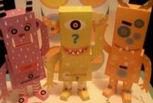 monster series / monster in paper toy