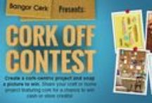 2014 Cork Off Photo Contest Entries / Crafters, designers, and renovators get ready - Bangor Cork presents its first official photo contest, The Ultimate Cork Off! Crafters show us how they use cork in crafts, projects, and home design renovations for a chance to win cash or credits or a featured story on Bangor Cork's website!