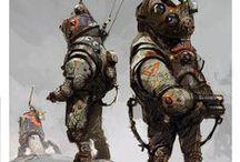 Mercs, Mechs & Marines / Digital Polish Painter Jakub Różalski Combines 1920s Eastern Europe with Giant Robots