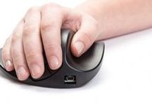 Mice / Adapted Computer Mice to fit the needs of the individual, whether they have full or little hand control, to no hand control at all, they are still able to use a computer.