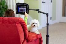Tablet Mounts / Mounts are a great way to make different items easily accessible. You can mount phones, tablets, computers, and so much more. Many mount systems are customizable with a head, tube/arm, and base. They can be attached to tables, wheelchairs, etc.