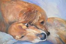 Dog Art / Paintings by various artists depicting domestic dogs. My wolf and fox art paintings are now on their own boards. / by Iain S Byrne, Wildlife Art