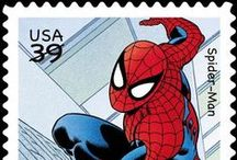Stamps - Super Heros