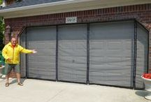 Garage Door Screens / Convert your garage into a screened in room #www.GarageDoorScreens.com Quick and easy to install / by Garage Door Screens