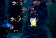 Decoration lighting outdoors / Lighting decoration in gardens and yards