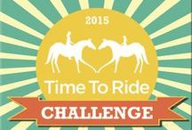 Time to Ride Challenge / Offering $100,000 cash & prizes for stables, businesses, and organizations committed to welcoming newcomers to horse activities. / by Time To Ride
