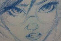 Elementos de dibujo y sketches / inspiraciones, referencias para mi construcción de dibujo