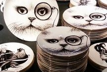 counter critters / cat inspired kitchen decor and gadgets
