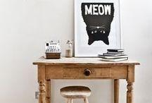desk cat / desk + office accessories for cat lovers