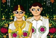 Kerala Wedding Indian Invite Illustration / Kerala Wedding Invite Illustration - Print Ready Indian Wedding Cards / Wedding Cards Indian Invites / Quirky Invites / SCDBalaji / SCDB / Illustrated Invites / Invite Illustration / Indian Illustrator / Bride Groom Illustration / Big Fat Wedding / Wedding Stationary / Invites / Indian Wedding / Indian Folk / / BridesofSCDBI / Save The Date Cards / Wedding Branding / e Invites / South Indian Wedding
