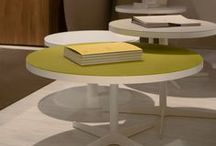 COFFEE TABLES complements / Prof collections are enriched by a wide range of COFFEE TABLES that complete the office and public areas.  All made with carefully selected materials, in glass, varnished metal, wood finishes and solid colors as in the catalogue.