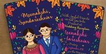 Indian Wedding Reception Invitation Cards / Indian Wedding Reception Invitations and Invitation Suites. Einvite and Print Invites available at www.scdbalaji.com