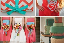 Aqua and coral wedding / The perfect spring/summer colour combo :)