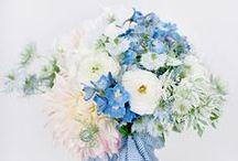 blue {wedding inspiration} / blue wedding floral design & inspiration