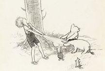e.h.shepard / 童話「くまのプーさん」と「たのしい川べ」の挿絵など